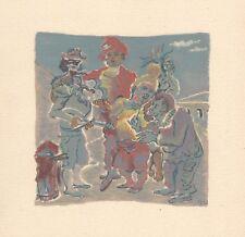 WILD Roger 1946 gravure sur bois woodcut Modigliani Max Jacob