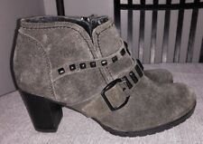 Gabor Patchwork Suede Ankle Boots Sz UK 6.5 US 8.5 Womens Gray Portugal