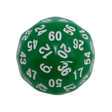 Green Color- 60 Sided Polyhedral Dice (D60)- Role Playing Game / Math Play 36mm