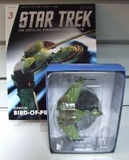 STAR TREK EAGLEMOSS SHIPS COLLECTION  #3 B,REL KLINGON BIRD OF PREY With Mag
