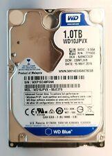 1 TB(TeraByte)1000 GB HDD NOTEBOOK FESTPLATTE WESTERN DIGITAL WD10JPVX 2,5 ZOLL