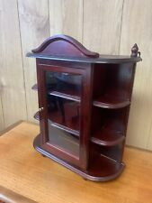 Vintage, Small Wooden Wall Hanging Display or Curio Cabinet Glassed Door