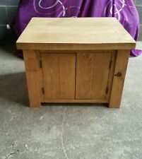 NEW SOLID WOOD RUSTIC CHUNKY PLANK WOODEN CUPBOARD STORAGE UNIT MADE TO MEASURE