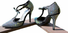 Argyle, Diamond Faux Suede Strappy, Ankle Straps Heels for Women