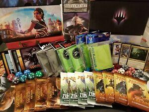 Magic BEST Fat Pack Bundle Box MTG Collection Lot -Packs Rares Sleeves Commander