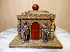 Medieval Castle With Guarding Soldiers Trinket Box