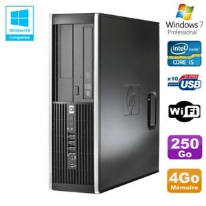 PC HP Elite 8300 SFF Core I5 3470 3.2GHz 4Go Disque 250Go Graveur USB3 Wifi W7