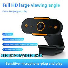 USB 2.0 Webcam Auto Focusing Web Camera HD Cam Microphone For PC Laptop Desktop
