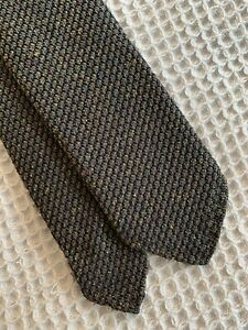 NWT Berg & Berg Navy & Green Two Color Flecked Grenadine Tie Hand Rolled Edges
