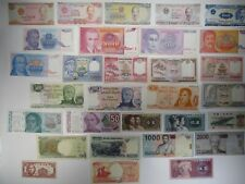 Assorted Lot of 30 Circulated Banknotes World Paper Money Collections & Lots