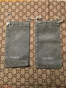 Gucci Eyeglasses  Sunglasses Green Soft Case Pouch Set Of 2