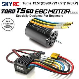 SkyRC TS50 50A Brushless Sensored ESC Brushless Motor Power Combo fr 1/10 RC Car