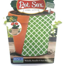 """Pot Sox 8"""" Stretchable Fabric Planter Cover ~ Basketweave ~ Free Shipping S15"""
