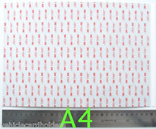 3M VHB RP45 doble cara espuma adhesiva acrílica Hoja de encolado A4 Talla 210 X 300mm