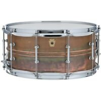 """Ludwig LC663T Copper Phonic Raw Patina Snare Drum with Tube Lugs, 6.5"""" x 14"""""""