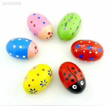 Egg Wooden Baby Child Toy Toys Shaker Instrument Rattle Gift Colorful Maracas