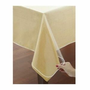 """Window Clear Vinyl Tablecloth Protector Heavy Oblong Plastic Table Cover 60""""X108"""