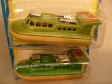 2 DIFFERENT GREEN 1976 MATCHBOX LESNEY SUPERFAST #2 RESCUE HOVERCRAFT MOC