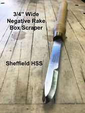 "3/4"" Wide Round Nose Negative Rake Woodturning Box Scraper Wood Lathe Chisel"
