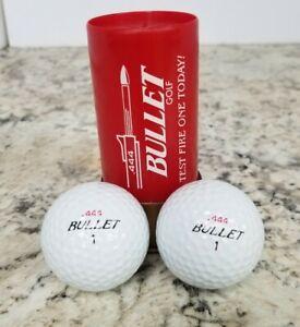 (2) Bullet Golf Balls & .444 Test Fire Bullet Shell Collectible Advertising