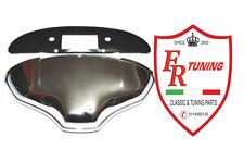 FANALINO/FARO LUCE TARGA IN ALLUMINIO CROMATO FIAT 500