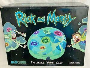 Rick & Morty Inflatable Fart PVC Vinyl Plastic Blow Up BLO Chair Adult Swim