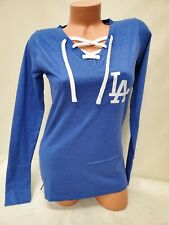 01027 WOMENS Ladies LOS ANGELES DODGERS Long Sleeve  Laces Baseball Shirt New