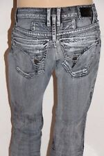 New Men's ROBIN'S JEAN sz 32 #D5696 LNG FLAP Waxed Stretchy Denim Straight Jeans