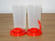 TUPPERWARE SALT AND PEPPER SHAKER/CONTAINERS SET(2)**NEW**