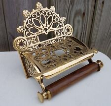 Victorian Toilet Roll Holder Solid Brass