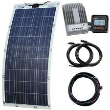 150W semi-flexible solar charging kit for motorhome, caravan, boat, rv, yacht