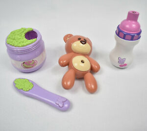 Amazing McKayla Doll Accessories Interactive Bottle Teddy Bear Peas Playmates
