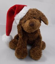 """Santa Puppy Dog Plush 7"""" Tall Heritage Collection by Ganz"""