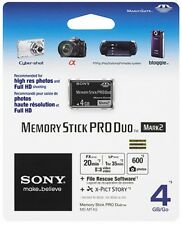 Sony 4gb Memory Stick Pro Duo Card for Sony SLT A65 A55 A35 A33 A77