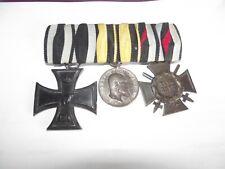 #3er Ordensspange EK2 - Tapferkeits Medalla Württemberg - Honorcruz WK1