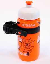 Zefal Little-Z Kid's Bicycle Water Bottle and Cage 162 12oz/350ml Orange