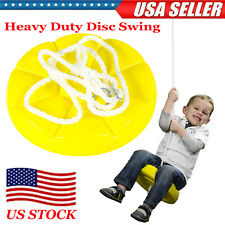 Heavy Duty Disc Swing Hanging Tree Rope Swing Set Children Kids Outdoor Backyard