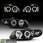 Black 2004 2005 2006 Pontiac GTO Halo Projector LED Headlights Lamps Left+Right  for sale