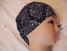 New BLACK PAISLEY Shaped Bandana / Zandana