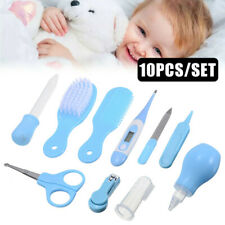 8 10x Baby Newborn Health Care Set Nail Hair Brush Thermometer Kids Grooming Kit