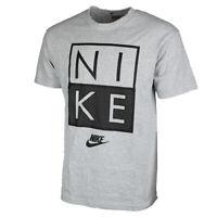 Nike Men's Short Sleeve Color Blocked Square Logo Print Athletic T Shirt