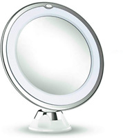 10X Magnifying Makeup Vanity Mirror With LED Lighted for Home Bathroom Travel