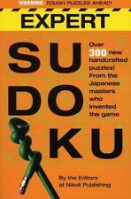 New - Expert Sudoku Softcover Book by Nikoli / Workman Publishing