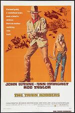 THE TRAIN ROBBERS original 1973 one sheet movie poster JOHN WAYNE/ANN-MARGRET