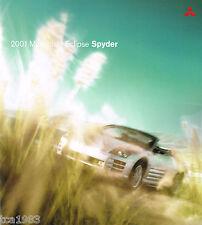 2001 MITSUBISHI ECLIPSE SPYDER FOLLETO / FOLLETO con tabla de colores: GS, GT