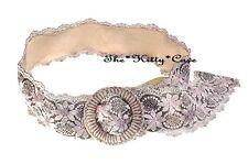 Style Vintage Beatnik Boho Retro Gypsy Shabby Chic Large Fleurs Floral Lacets