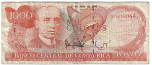 COSTA RICA 1000 COLONES 1997 PICK 264 LOOK SCANS