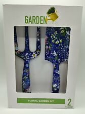 Garden Party 2 Piece Floral Tools Kit Home/Garden Tool Sets Equipment Blue - New