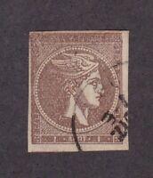 Greece stamp #16, used, Athens print, 1862-67, SCV $60.00