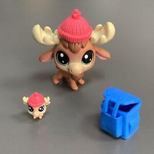 NEW Littlest Pet Shop LPS Series 1 Elkam Mooseberg & Hatton Mooseberg Lot Gift